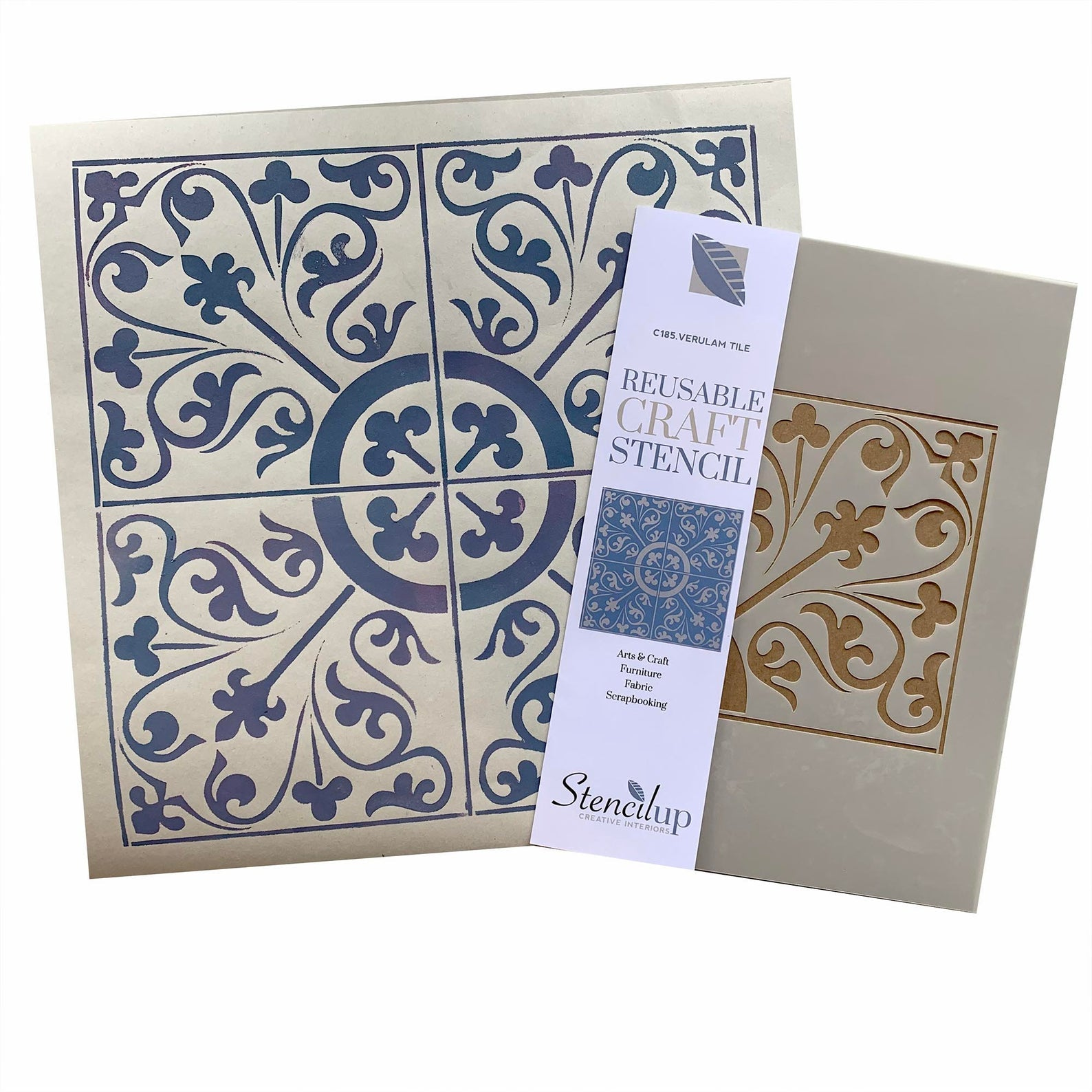 Verulam Tile Stencil for Walls and Floors