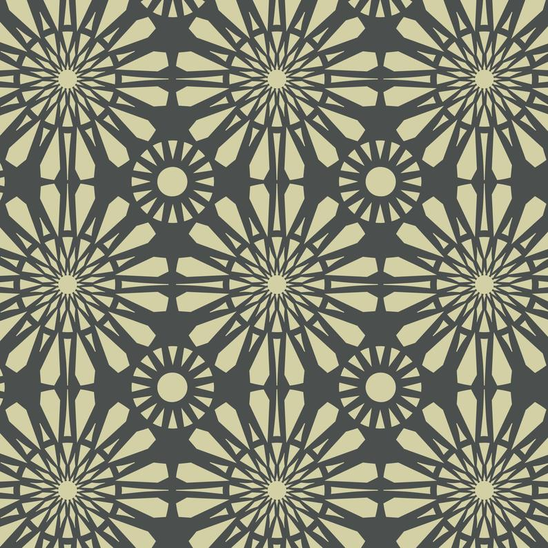 Moroccan stencil for furniture