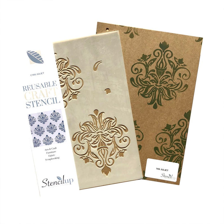 JULIET DAMASK craft stencil