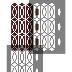 Art Deco Lattice Craft Stencil