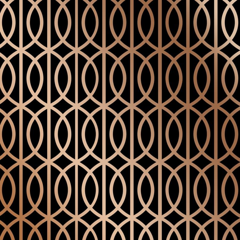 Art Deco Lattice Wall Stencil