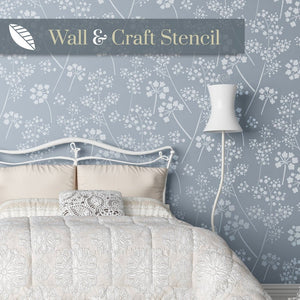 Gypsophila wall stencil for painting