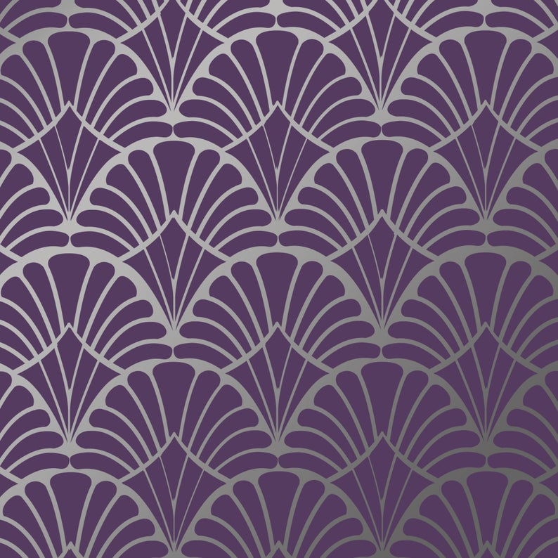 Deco Shells Craft Stencil