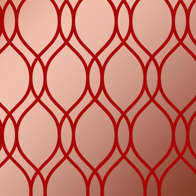 geometric repeating pattern - stencil.co.uk