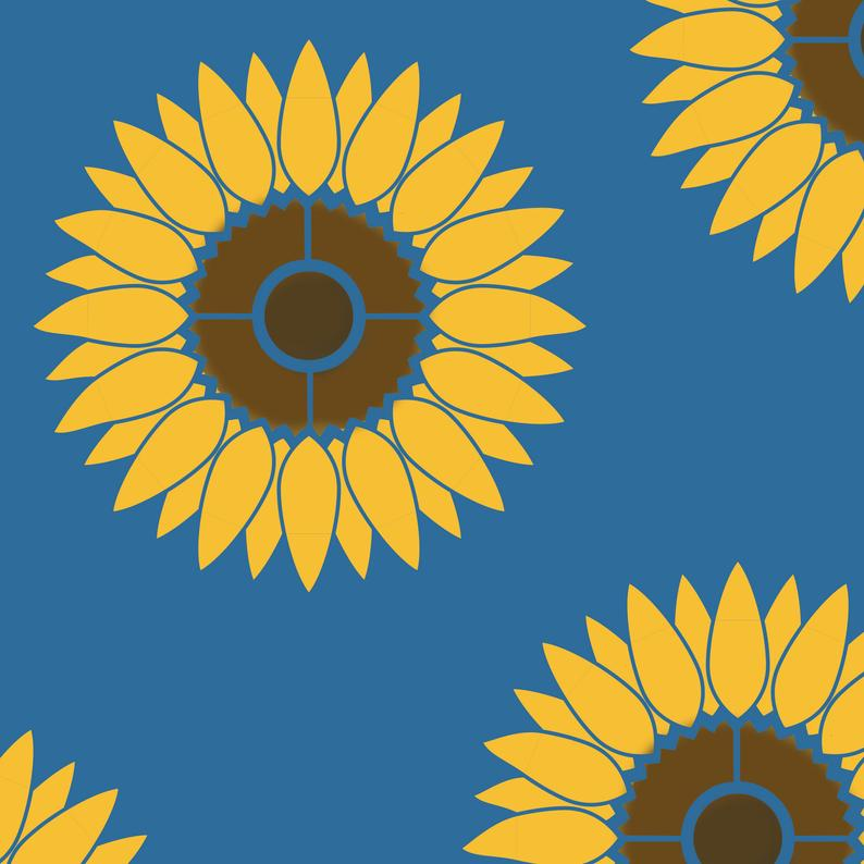 sunflower stencil for painting