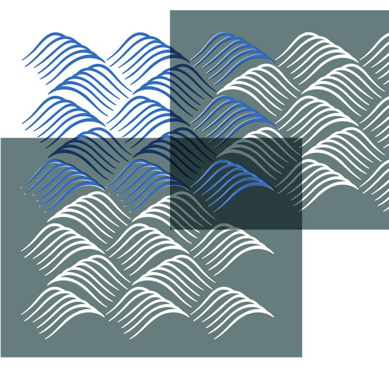 Ocean Waves Craft Stencil