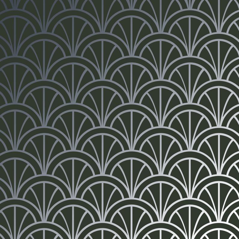 Modern Deco Arches (medium) craft stencil