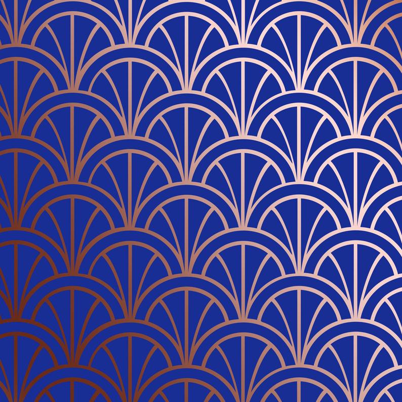 art deco wall stencil pattern