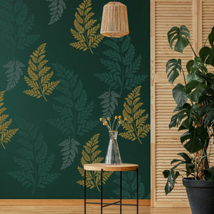 fern leaf wall stencil