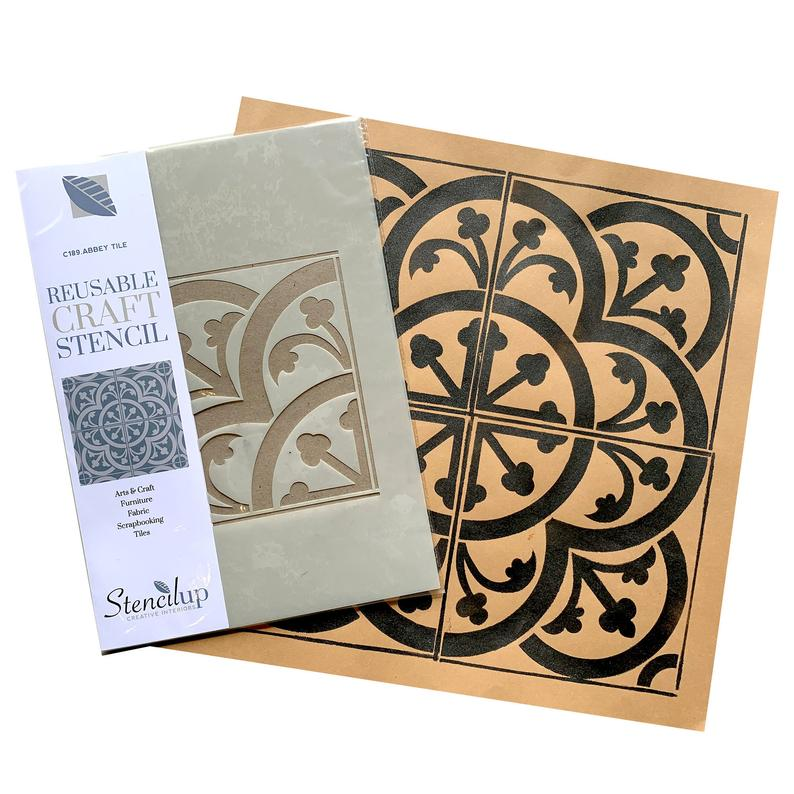 Abbey Tile Stencil for Walls and Floors