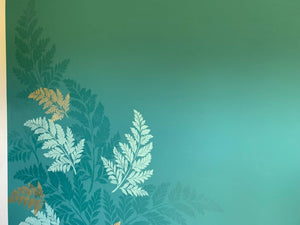 fern leaf wallpaper stencil