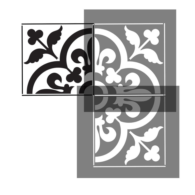 Fleur de Lis Tile Stencil for Walls and Floors