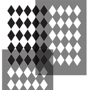 harlequin small diamond stencil pattern - stencilup.co.uk