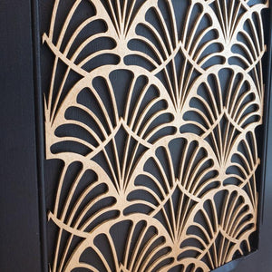 Art Deco wooden only inlay - wooden appliqué - stencil.co.uk