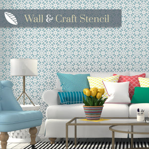 Arco lattice wall stencil