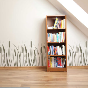 bulrush wall stencil - stencil.co.uk
