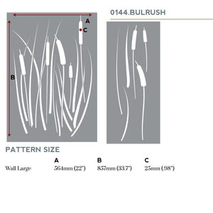 Bulrush Cattail Wall Stencil