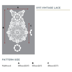 Vintage Lace Wall Stencil