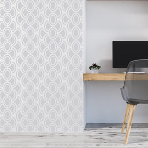 retro wallpaper stencil