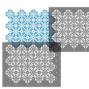 Arco lattice wall stencil overlay