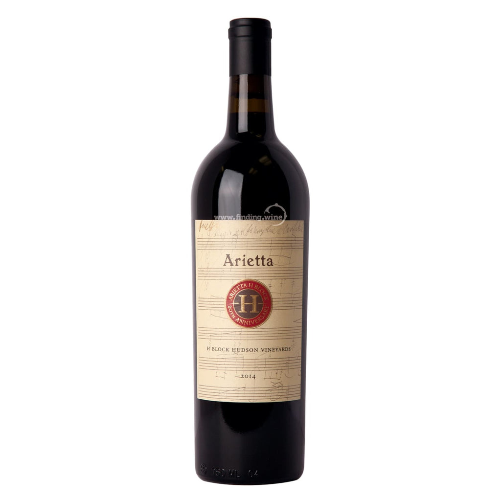 Arietta 2014 - H Block Hudson Vineyards 750 ml. -  Red wine - Arietta - finding.wine - wine - top wine - rare wine