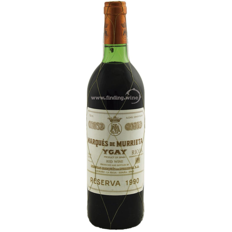 Bodegas Marques de Murrieta _ 1990 - Rioja Reserva _ 750 ml. - finding.wine - wine - top wine - rare wine
