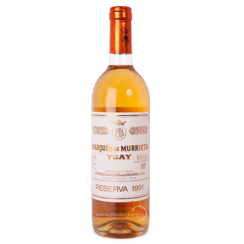 Bodegas Marques de Murrieta _ 1991 - Ygay Reserva Blanco (White Label) _ 750 ml. - finding.wine - wine - top wine - rare wine