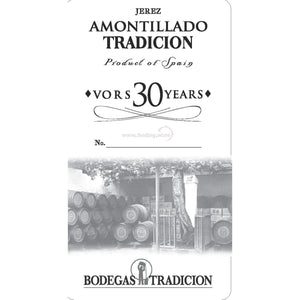 Bodegas Tradicion NV - Amontillado VORS 30 Years 750 ml. |  Sherry wine  | Be part of the Best Wine Store online