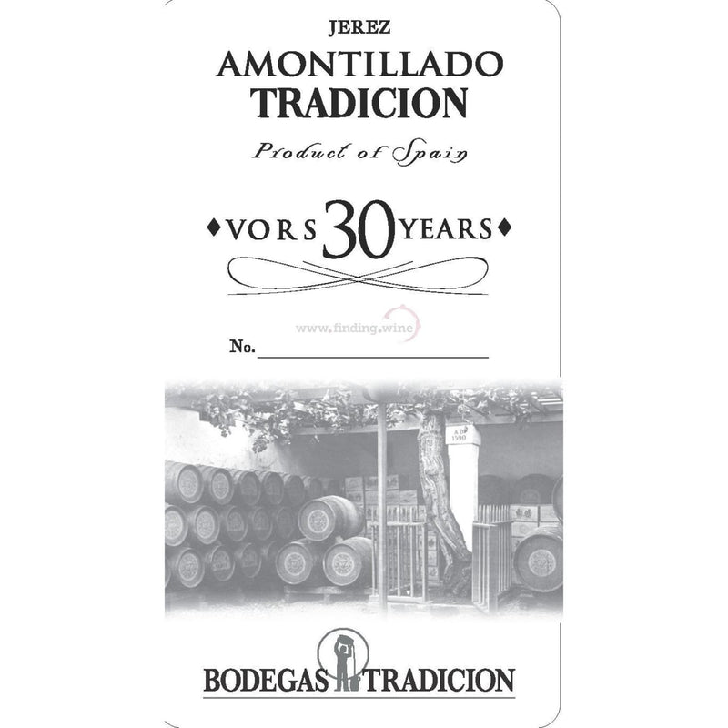 Bodegas Tradicion _ NV - Amontillado VORS 30 Years _ 750 ml. - Sherry - www.finding.wine - Bodegas Tradicion