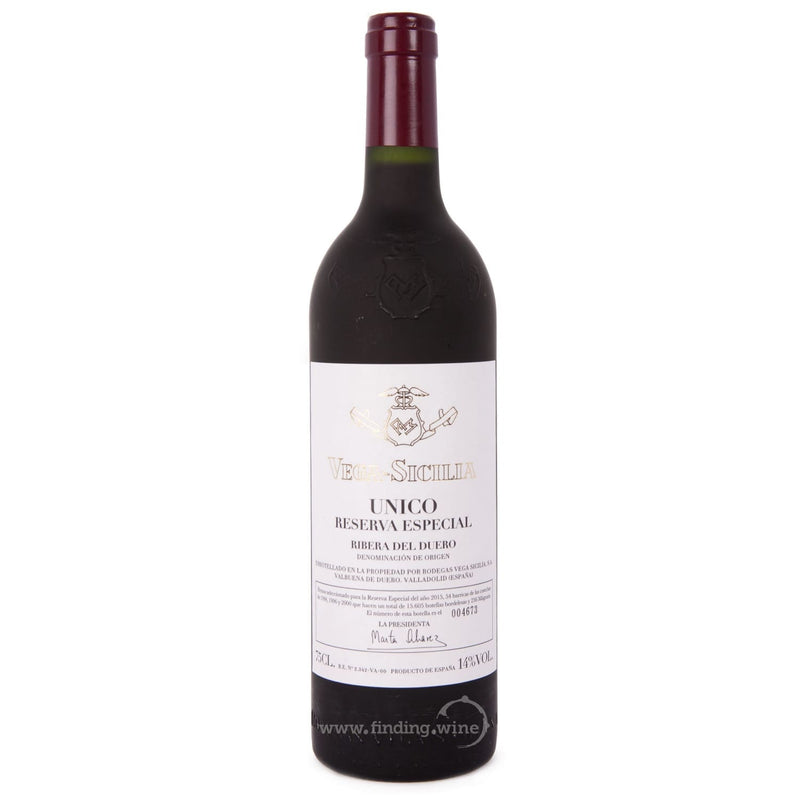Bodegas Vega Sicilia MV-2015 - Unico Reserva Especial (2015 Release 94-96-00) 750 ml. |  Red wine  | Be part of the Best Wine Store online