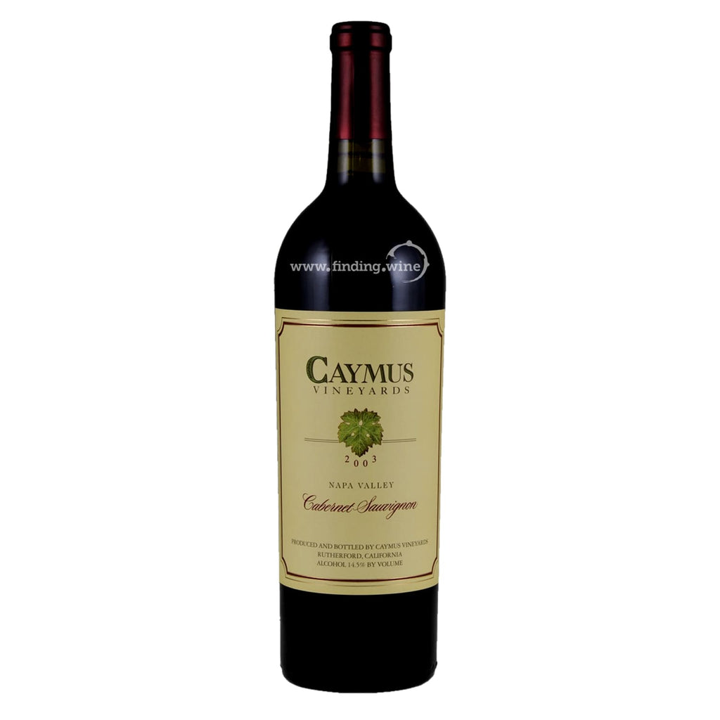 Caymus _ 2003 - Cabernet Sauvginon _ 750 ml. - Red - www.finding.wine - Caymus