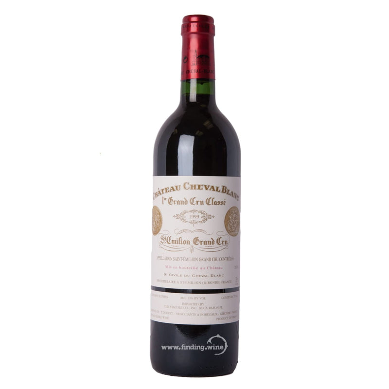 Chateau Cheval Blanc 1999 - Cheval Blanc 750 ml. -  Red wine - Chateau Cheval Blanc - finding.wine - wine - top wine - rare wine