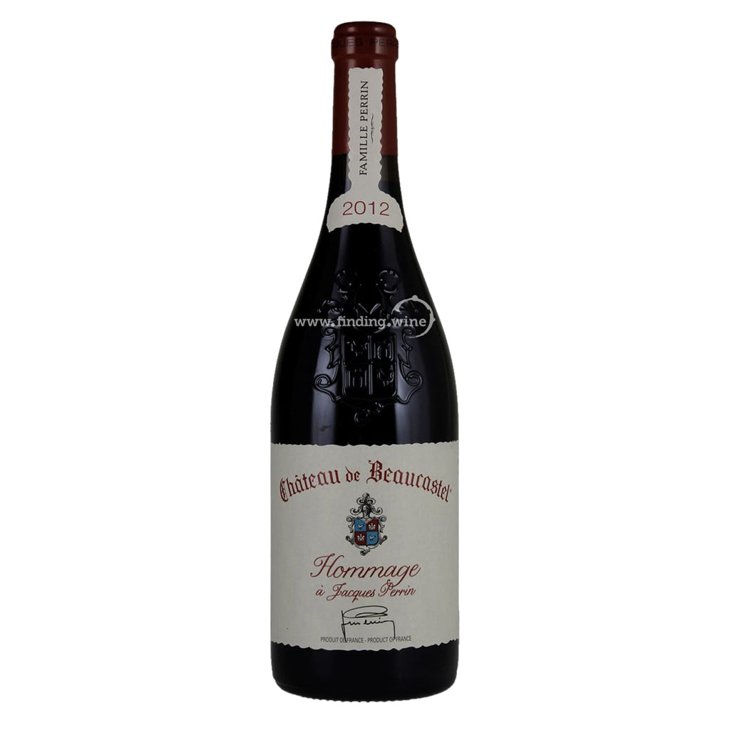 Chateau de Beaucastel _ 2012 - Chateauneuf du pape hommage a Jacques Perrin _ 750 ml. - Red - www.finding.wine - Chateau de Beaucastel