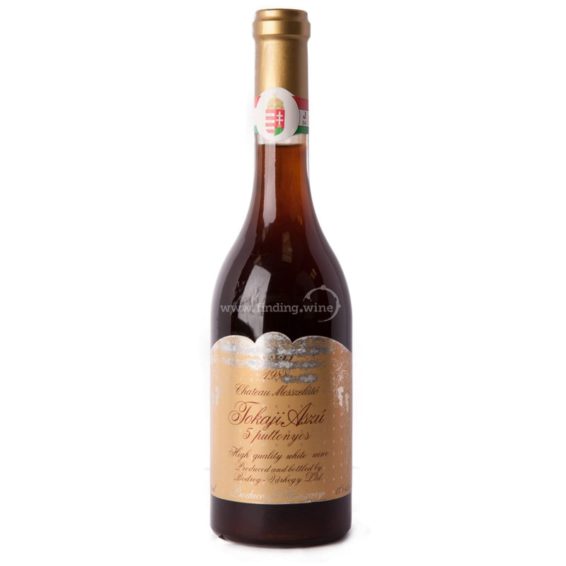 Chateau Messzelato 1988 - Tokaji Aszu 5 Puttonyos 500 ml. -  Dessert wine - Chateau Messzelato - finding.wine - wine - top wine - rare wine