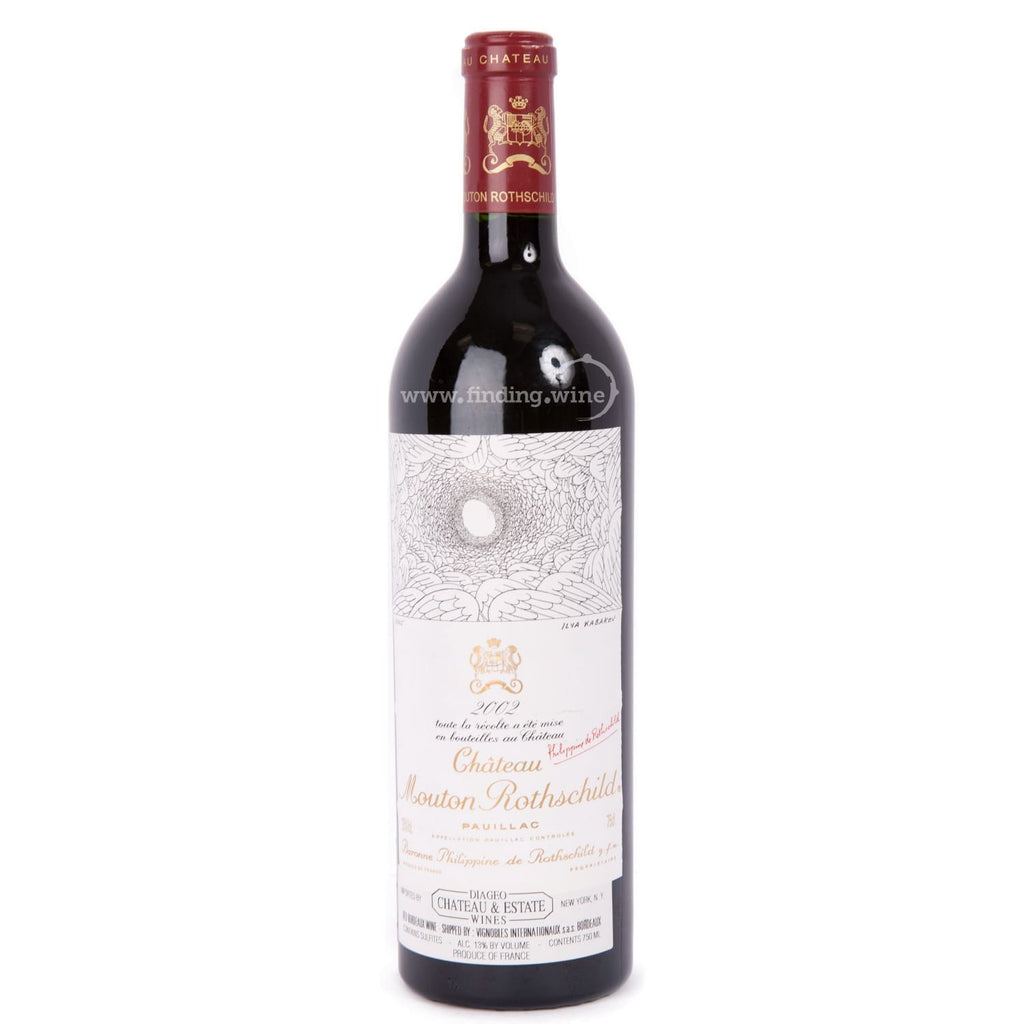 Chateau Mouton Rothschild 2002 - Mouton Rothschild 750 ml. -  Red wine - Chateau Mouton Rothschild - finding.wine - wine - top wine - rare wine