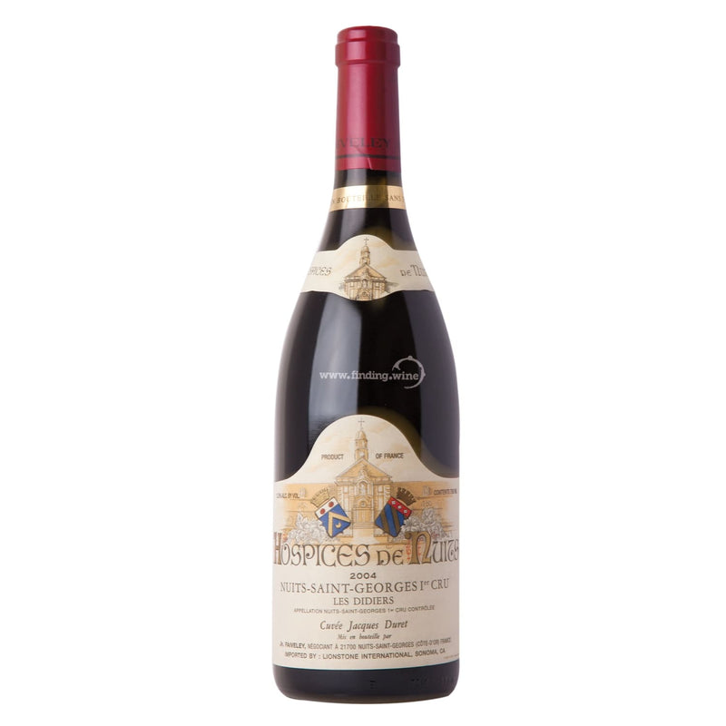 Hospices de Nuits _ 2004 - S-G Les Didiers Cuvee George Faiveley _ 750 ml. - Red - www.finding.wine - Hospices de Nuits