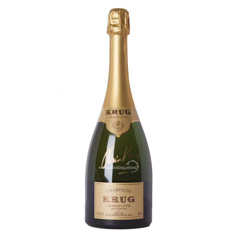 Krug _ NV - Grand Cuvee 164th. Ed. Signed by Oliver Krug _ 750 ml. - Sparkling - www.finding.wine - Krug