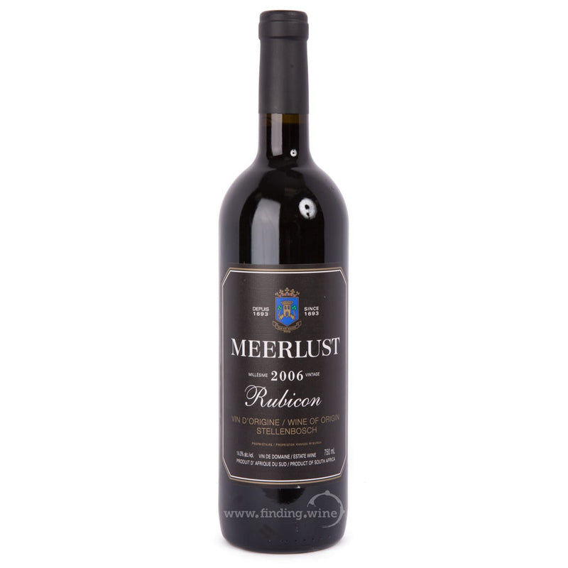 Meerlust Estate _ 2006 - Rubicon _ 750 ml. - Red - www.finding.wine - Meerlust Estate