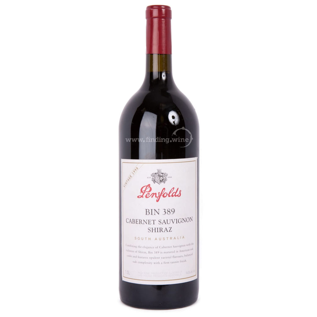 Penfolds _ 1998 - Bin 389 Cabernet Shiraz _ 1.5 L - Red - www.finding.wine - Penfolds