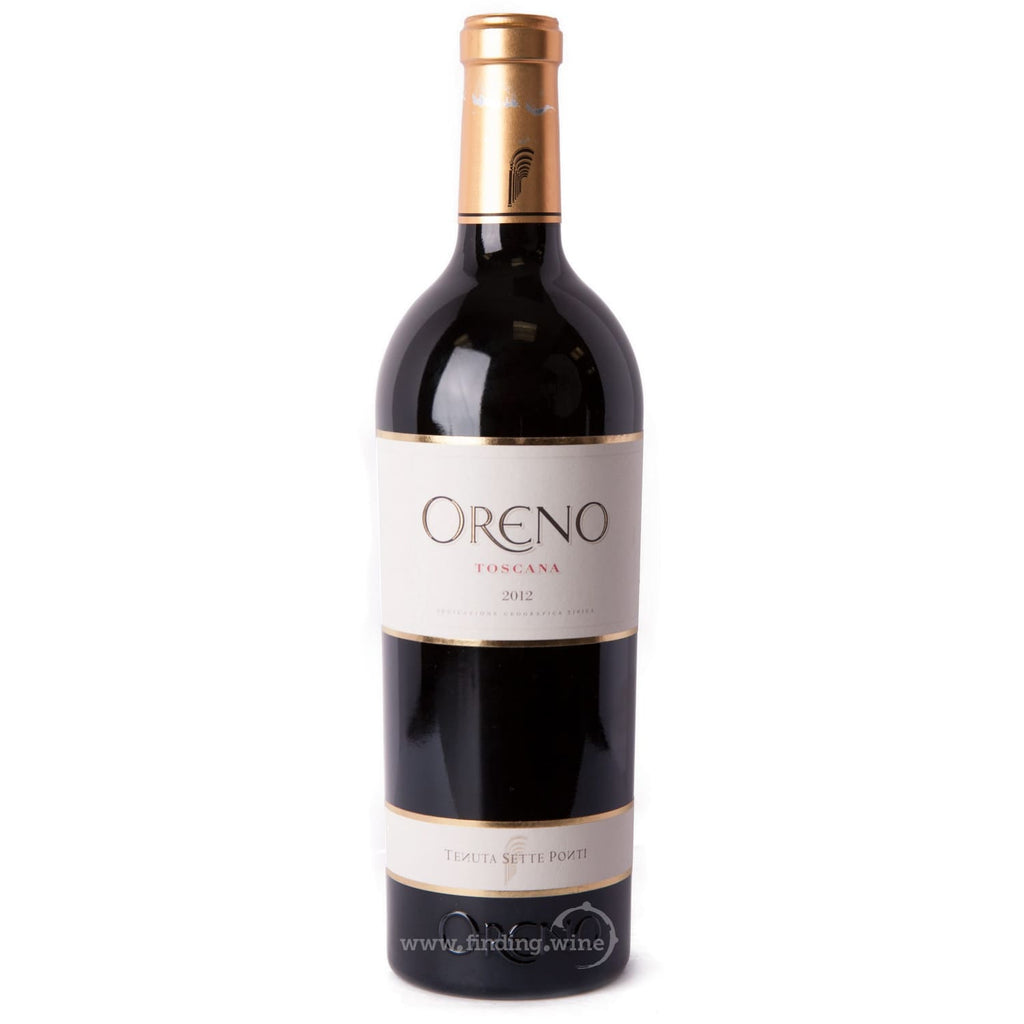 Sette Ponti _ 2012 - Oreno Proprietary _ 750 ml. - Red - www.finding.wine - Sette Ponti