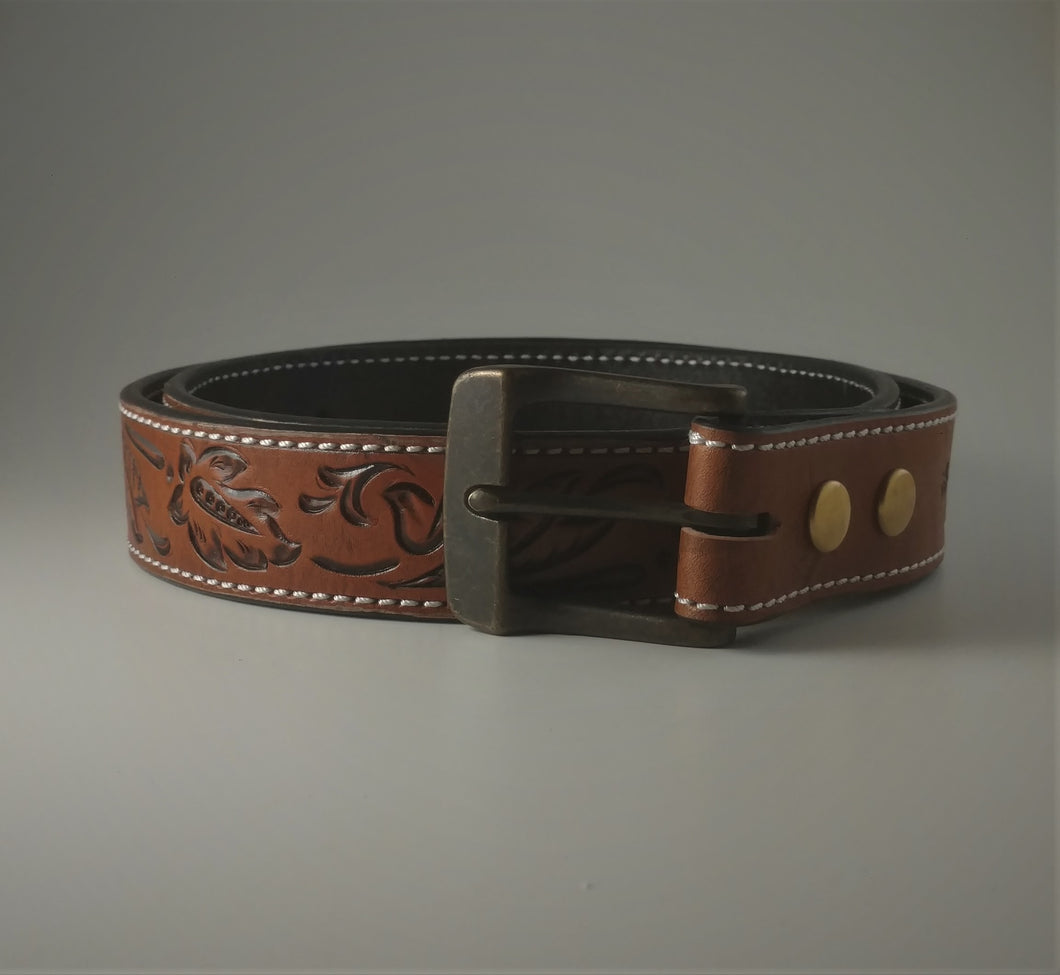 Custom Leather Belt Inverted
