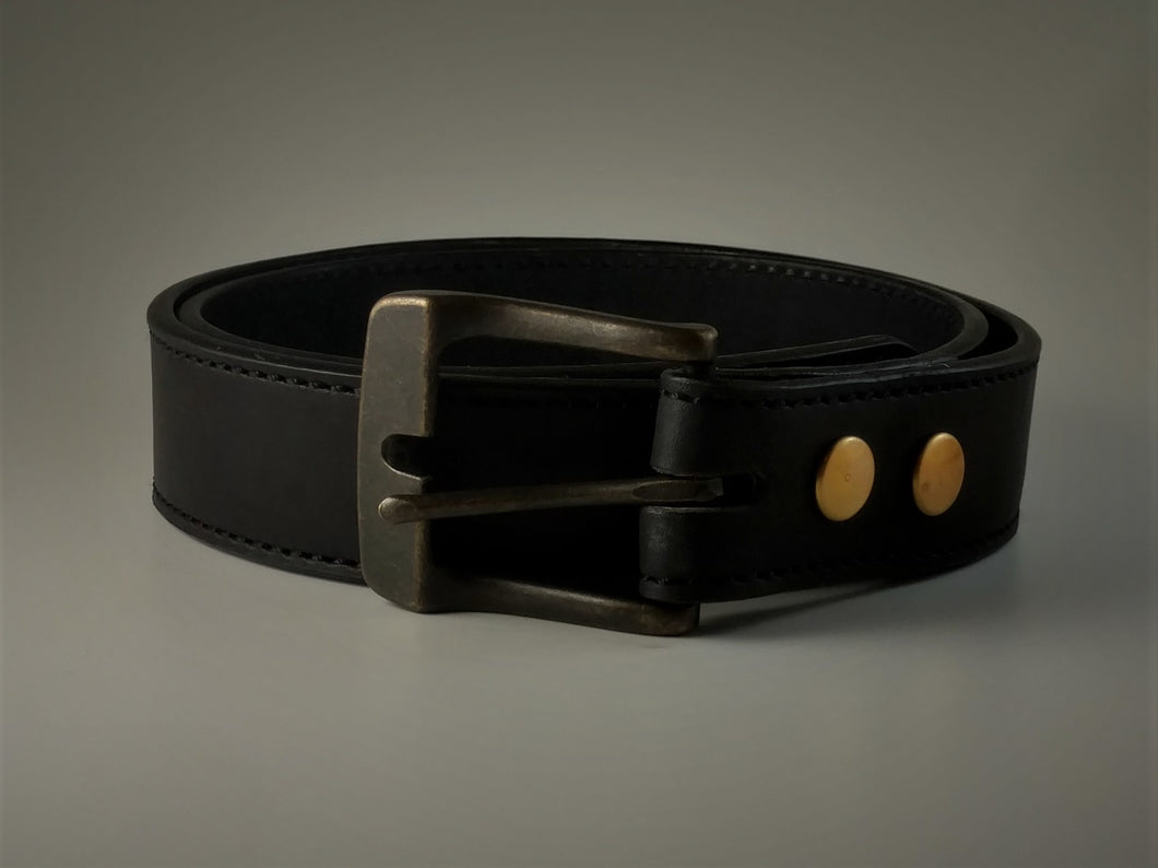 Plain Belt Black Made To Order