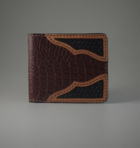 Leather Crocodile Print Wallet