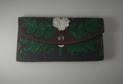 Painted Floral Ladies Wallet