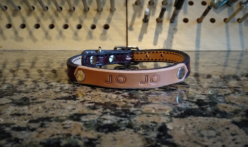 Personalized Leather Dog Collar Small