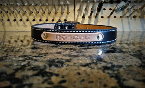 Personalized Leather Dog Collars Large