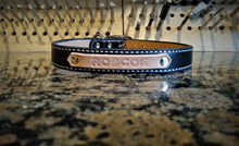 Personalized Dog Collar and Leash Set Black