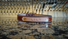 Personalized Leather Dog Collar Medium