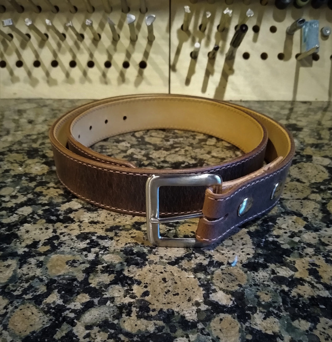Distressed Brown Belt Made to Order