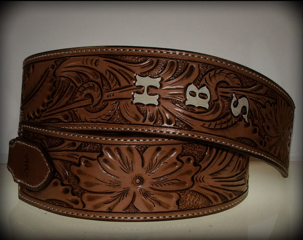 Full Tooled Sheridan Swirl Guitar Strap Made To Order